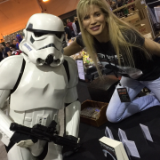 I would climb over my table for a stormtrooper any day!